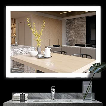 Amazon.com: BATH KNOT Espejo retroiluminado inteligente para ...