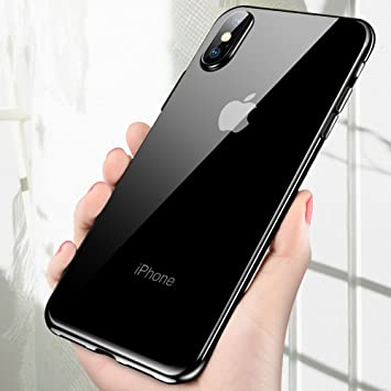 Funda iPhone X, Vitutech Cover iPhone X Carcasa Ultra Slim Anti-Rasguño Shock-Absorción Protectora Silicona TPU Bumper Case Cover para iPhone X ...