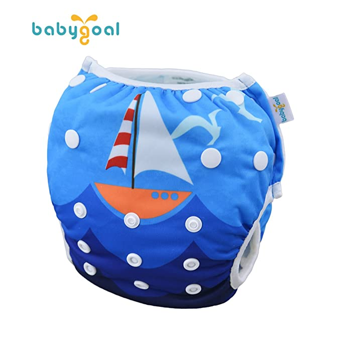 Washable Swimsuits for Babies 0-2 Years babygoal Reusable Swim Diaper Swimming Lessons ZSWDF02