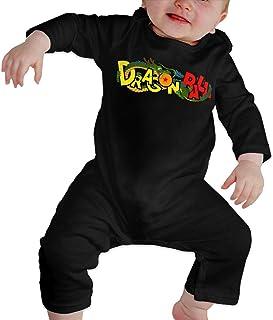 LuYiDa Unisex Baby Crew Neck Short Sleeve Climbing Clothes Charlie Funny Crawling Suit Black