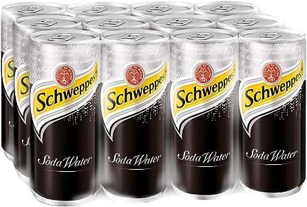 Schweppes Soda Water, 330ml, (Pack of 12)