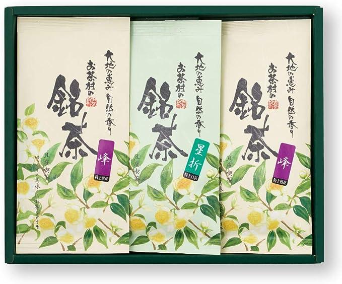 お茶村 平袋3本入セット【特上煎茶 峰(100g×2本)・上白折 星折(100g×1本)】ギフト 贈答用
