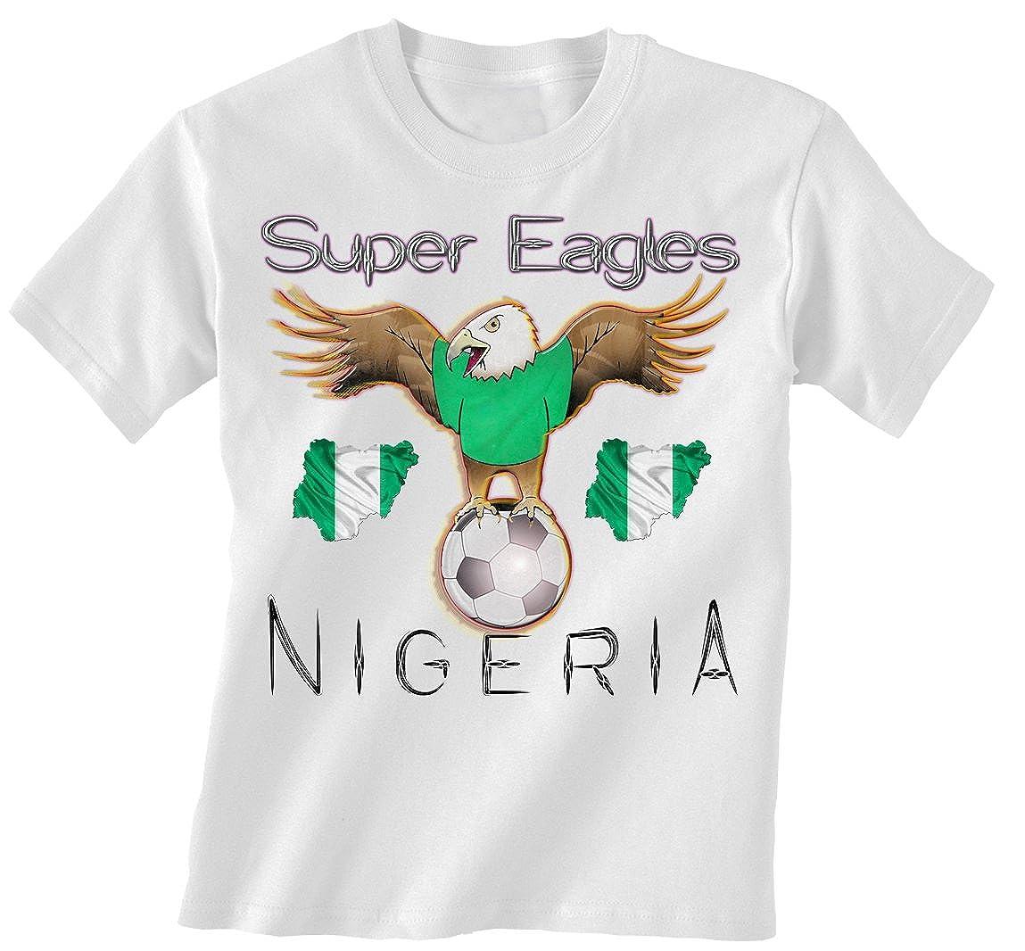 Nigeria Football Mascot Childrens Boys/Girls Kids Niños Camiseta ...