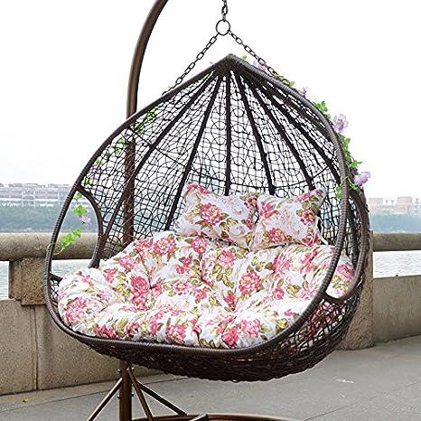 Habitat Rattan Basket Swing Hanging Chair Outdoor Rocking Indoor Balcony Amazon Co Uk Garden Outdoors