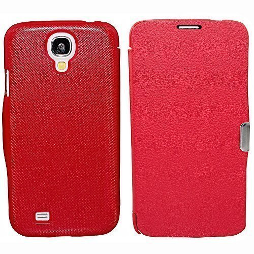 Avcibase housse de protection à rabat style livre 11-en - 1 pour samsung galaxy s4 i9500 rouge