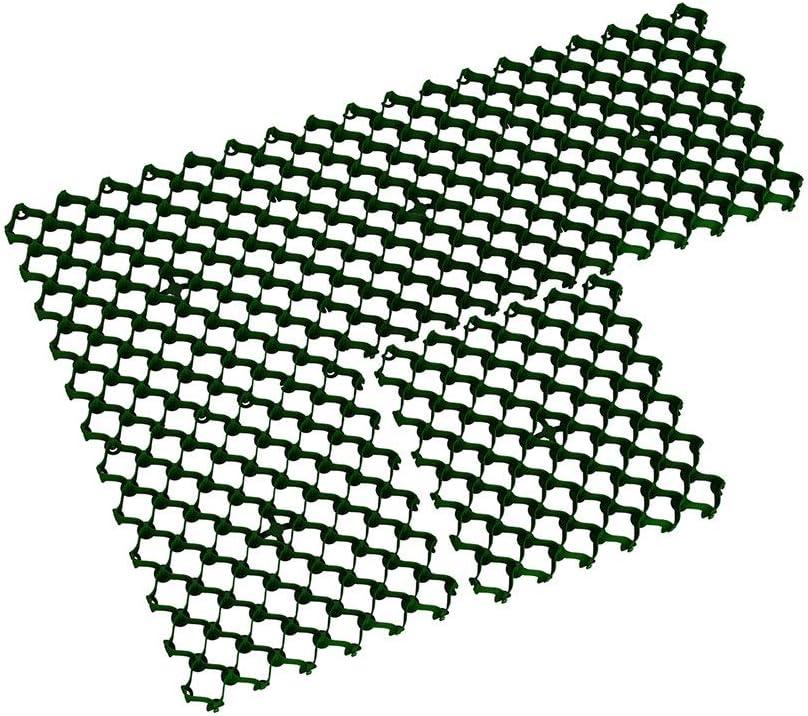 Rasengitter ab 8 St/ück Bodengitter 200, gr/ün Kunststoff 500 x 500 x 36 mm mit Clipsystem ohne Bodenanker