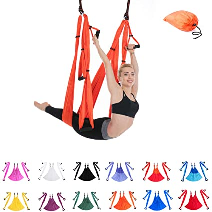 Amazon.com : JINPENGRAN Aerial Yoga, Hammock, Yoga Swing ...