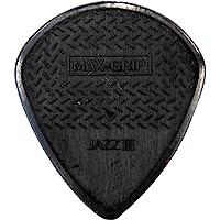 Jim Dunlop 471R3S Nylon Max Grip Jazz Guitar Pick, 24 Pieces in a Bag