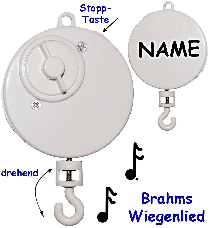 Lullaby aus .. drehend /& zum Aufh/ängen Mobile /& Traumf/änger Name z.B alles-meine.de GmbH Spieluhr // Spielwerk Musikbox Wolfgang Amadeus Mozart incl Wiegenlied