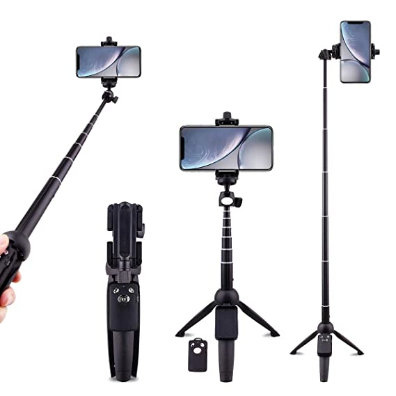 4f2a5bac51d18f Selfie Stick Tripod Bluetooth Extendable Wired Self-Portrait Handheld  Monopod 360° Rotation Detachable Remote
