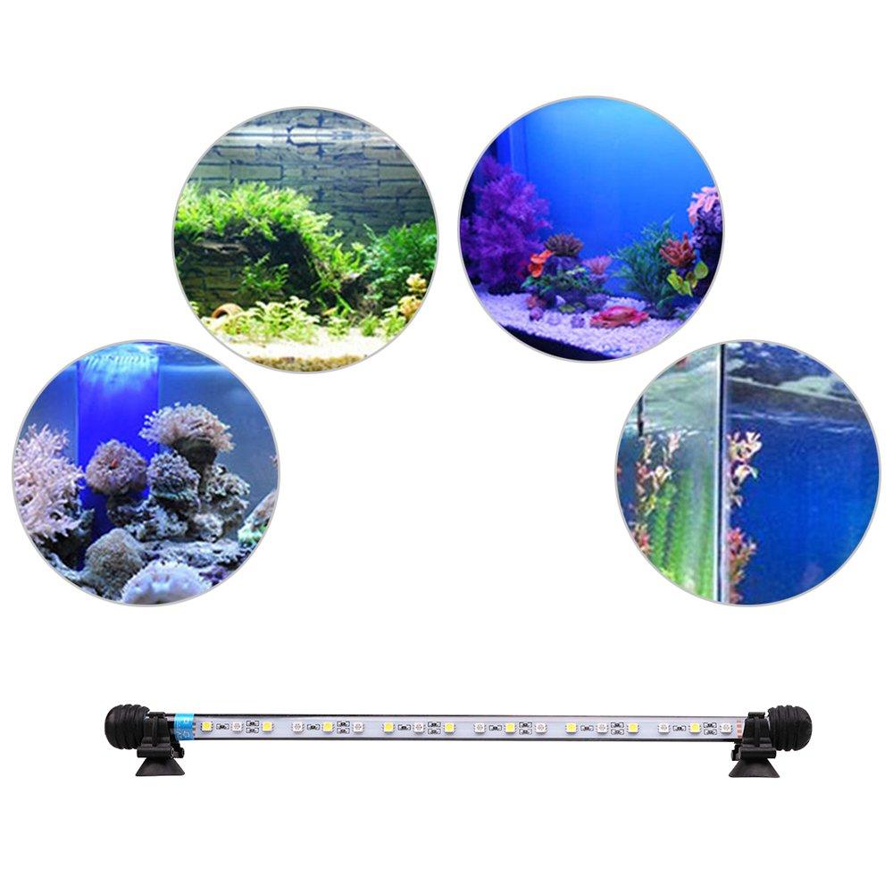 Iluminaci/ón LED para Acuarios Plantados L/ámpara LED para Peceras Resistente al Agua Luz para 71cm, Blanco y Azul MLJ Acuario LED Iluminaci/ón Deutschland Lagerhaus
