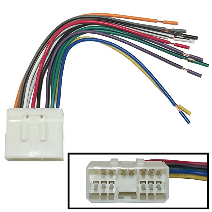 61PyZISAiML._SX681_ amazon com aftermarket car stereo radio receiver wiring harness w  at bayanpartner.co