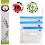 MOYEAH Vacuum Zipper Bags ,Food Storage Saver BPA Free, Compatible to Foodsaver Sous Vide, Refill Bags with Unique multi layer construction, 10 per Pack