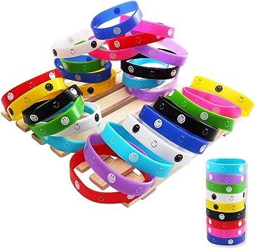 Yunfan 36Pcs Pulseras de Silicona, Pulseras de Goma, Recuerdo de la Fiesta Emoji Pulsera de Silicona para Niños, Bracelet Emoji Rubber Silicona: Amazon.es: Juguetes y juegos