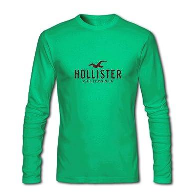 7174bebf71 Amazon.com: Hollister California for Men Printed Long Sleeve Cotton T-shirt:  Clothing