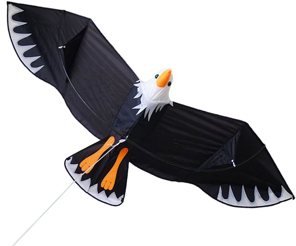 ZHONGRAN Huge 3D Bald Eagle Kite for Kids and Adults, 78-Inch Strong Giant Bird Kite for Boys Girls, Easy Flyer and Assemble for Beginner, Single Line Flying Toys Outdoor Games