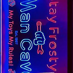 Amazon Com Advpro Personalized Your Name Est Year Theme Garage Man Cave Deco Dual Color Led Neon Sign White Blue 16 X 12 St6s43 Pp1 Tm Wb Home Kitchen