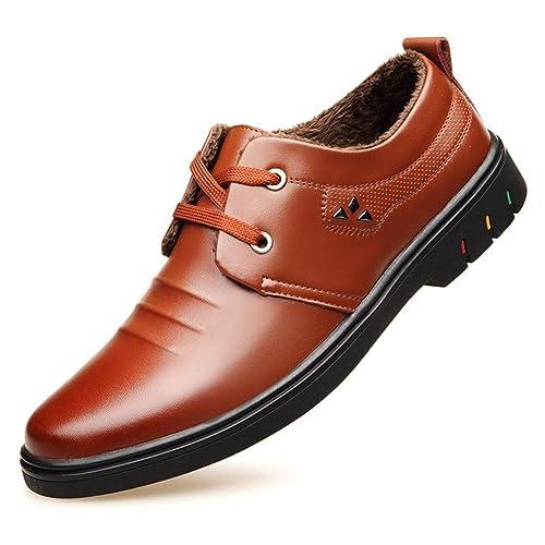 en XIGUAFR a Habillé Chaussure pour Boots Lacet d Homme Cuir l1TcFKJ