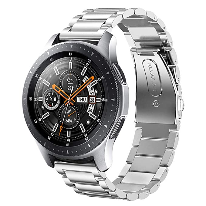 Sundaree Compatible con Correa Galaxy Watch 46MM,22MM Metal Acero Inoxidable Reemplazo Correas Banda Pulseras de Repuesto Smartwatch Correa para ...
