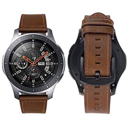 iBazal Bracelet Compatible Gear S3 Bracelets Cuir S3 Frontier Classic Bandes 22mm Montres Compatible Galaxy Watch