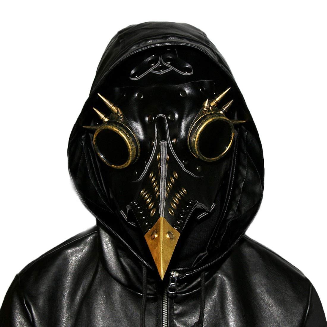 KERVINFENDRIYUN YY4 Vintage Rivet Long Nose Nose Nose Vogel Maske Schnabel mittelalterlichen Steampunk Halloween Party Maskerade Kostüm Requisiten 3 Farben erhältlich 4a7ea2