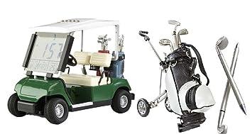 Cebego Golf Desktop Set Golf Mini Cart Mit Led Uhr Mini Golf Caddy