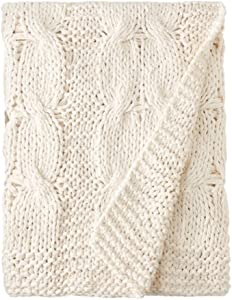 Be-you-tiful Home Michaela Natural Cable Knitted Throw