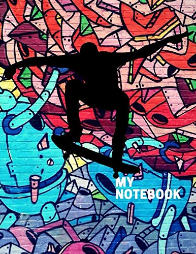 My Notebook. For Skateboarding Fans. Blank Lined Planner Journal Diary. (Skate Boarding Helmets)