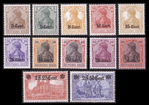 Goldhahn Deutsche Besetzung Etappengebiet West Nr. 1-12 ungestempelt- Briefmarken für Sammler