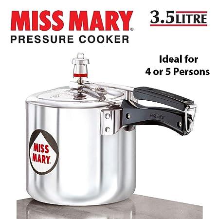 Hawkins   J32 Miss Mary Aluminum Pressure Cooker, 3.5 litres, Silver
