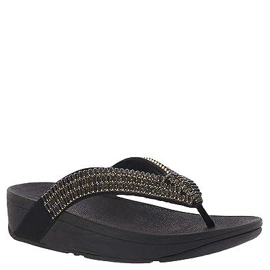 eefe0c00d FitFlop Surfa Crystalstone Women s Sandal 5 B(M) US Black