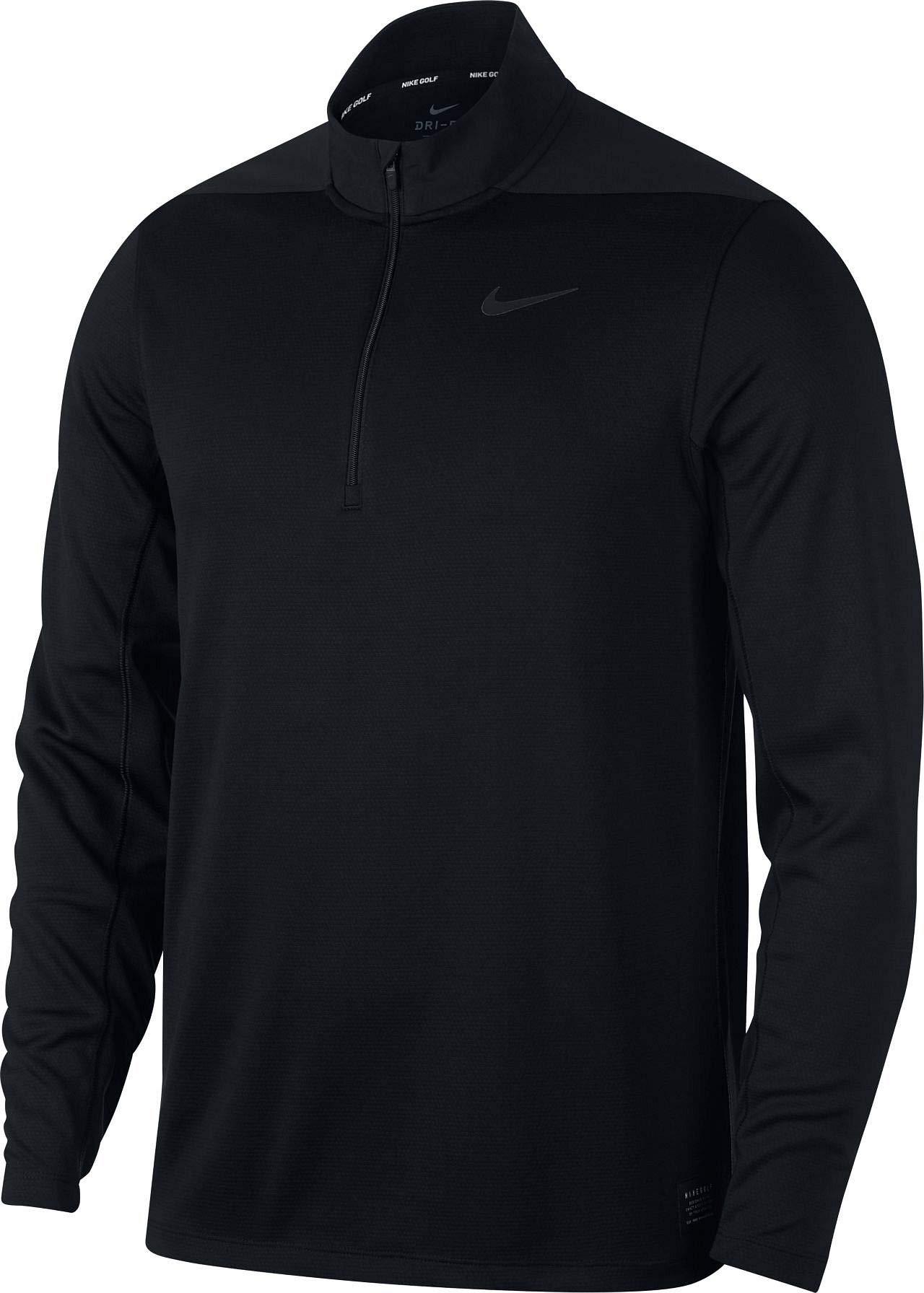 Nike Men's Dry Top Half Zip core, Black/Black/Black/Black, Small