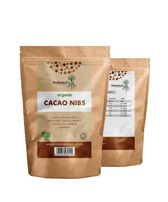 Natures Root biológico Cacao Nibs - La Criollo Art | fabricada de los Excelentes tigsten granos de cacao | Super Antioxidant: Amazon.es: Salud y cuidado ...