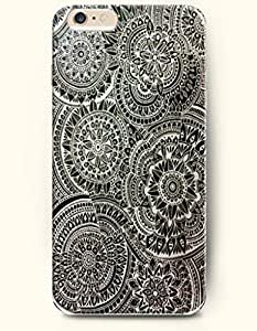 SevenArc Apple iPhone 6 Plus 5.5' 5.5 Inches Case Moroccan Pattern ( Black and White Subtle Flowers ) by icecream design