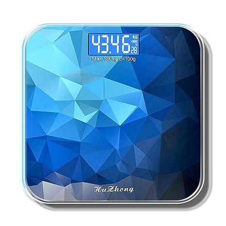 Báscula digital Báscula electrónica USB Cargar Cuerpo báscula Azul Gran pantalla LED Peso Báscula