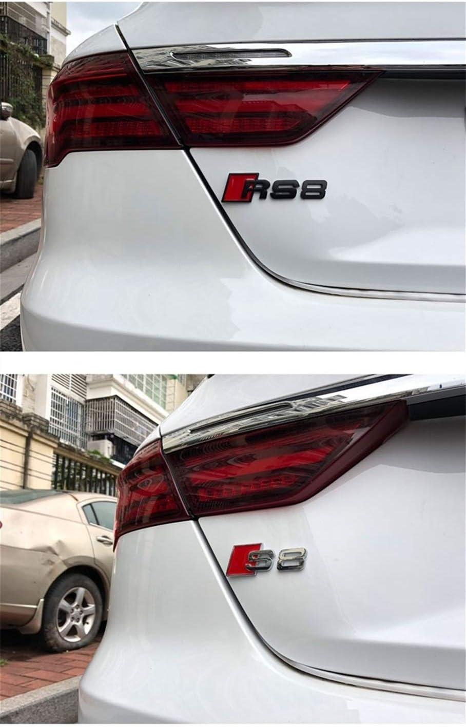 Car m/étal Autocollant Badge 3D Logo Emblem Trunk D/écoration Accessoires for A3 A4 A5 A6 S3 S4 S5 S6 S8 RS3 RS4 RS5 RS6 RS8 Color Name : RS3 Black