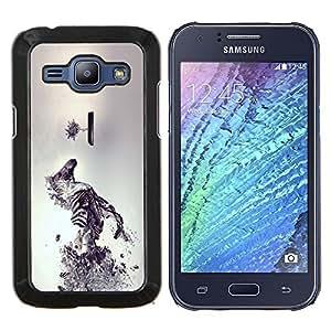 "For Samsung Galaxy J1 J100 , S-type Sci Fi cebra"" - Arte & diseño plástico duro Fundas Cover Cubre Hard Case Cover"