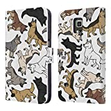 Head Case Designs German Shepherd Dog Breed Patterns Leather Book Wallet Case Cover For Samsung Galaxy S5 Active