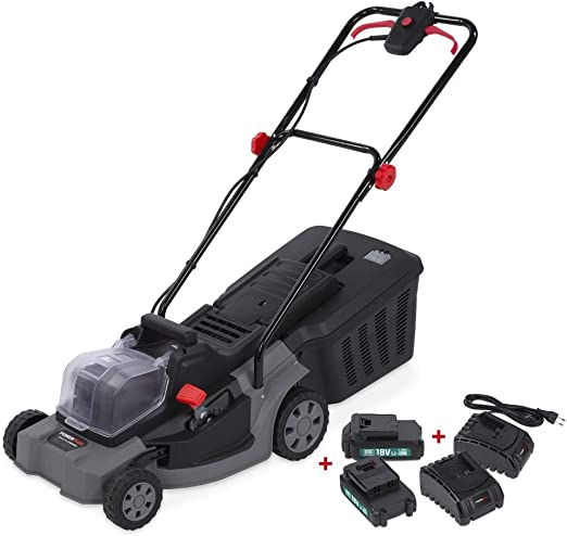 POWER plus batería de cortacésped Cortacésped Schneider Cortacésped Cortacésped eléctrico 400 mm 2 x 3000 mAh Batería: Amazon.es: Jardín