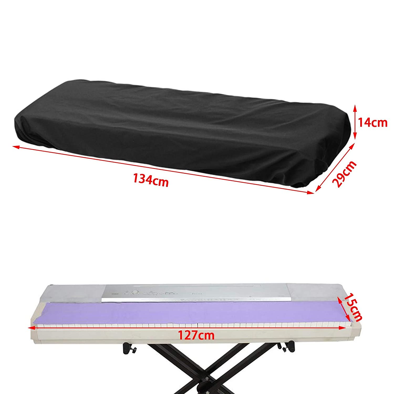 Funda Protectora para Teclado electr/ónico y Piano Digital de 76 a 88 Teclas 134 x 29 x 14 cm OTOTEC