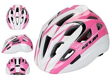 GUB cqjdg profesional de alta calidad casco de ciclismo para niños ligero ciclismo equipo de seguridad, rosa y blanco: Amazon.es: Deportes y aire libre