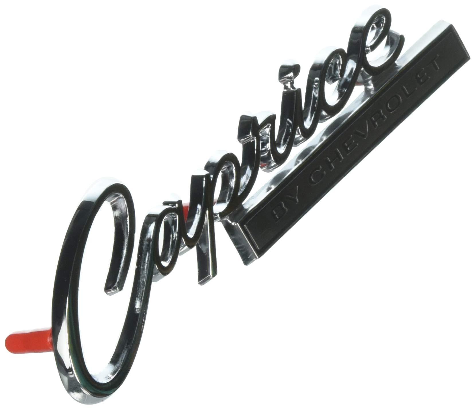 Caprice Emblem Top Deals Lowest Price 1966 Chevy Parts Trim 2571 Rear By Chevrolet
