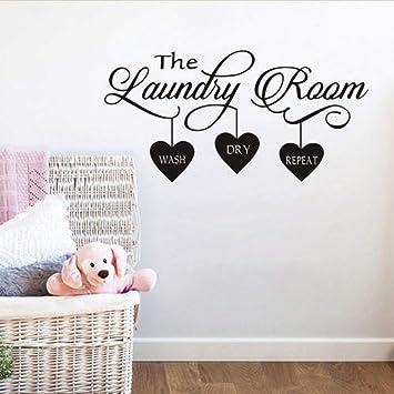 Amazon Com Buckoo Laundry Room Quote Wall Sticker Home Decor
