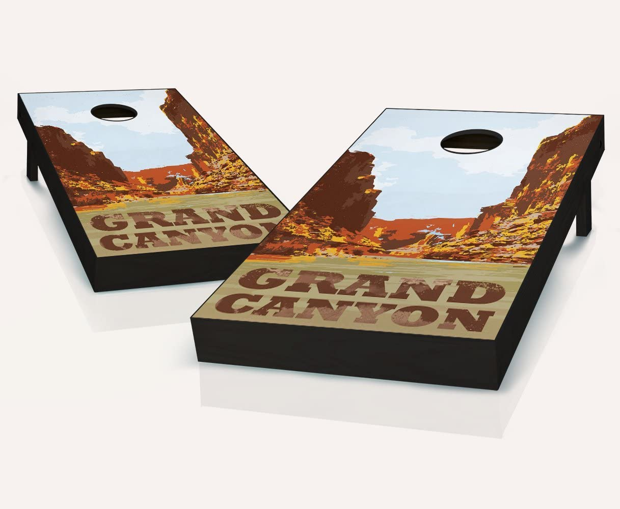 Tailgating Pros Grand Canyon Cornhole Boards withのセット8 Cornhole Bags