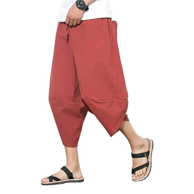Amazon.com: Urban Bridge Harem Pants Summer Casual Capri ...