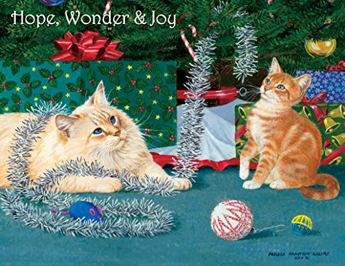 lang-kitten-christmas-boxed-christmas-card-by-persis-clayton-weirs-5375-x-6875-18-cards-and-19-envel