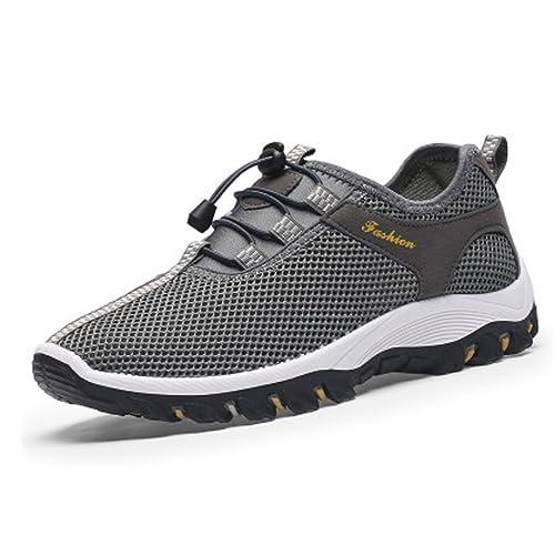 Y&Mai - Zapatilla de Velcro hombre , color gris, talla 41 EU