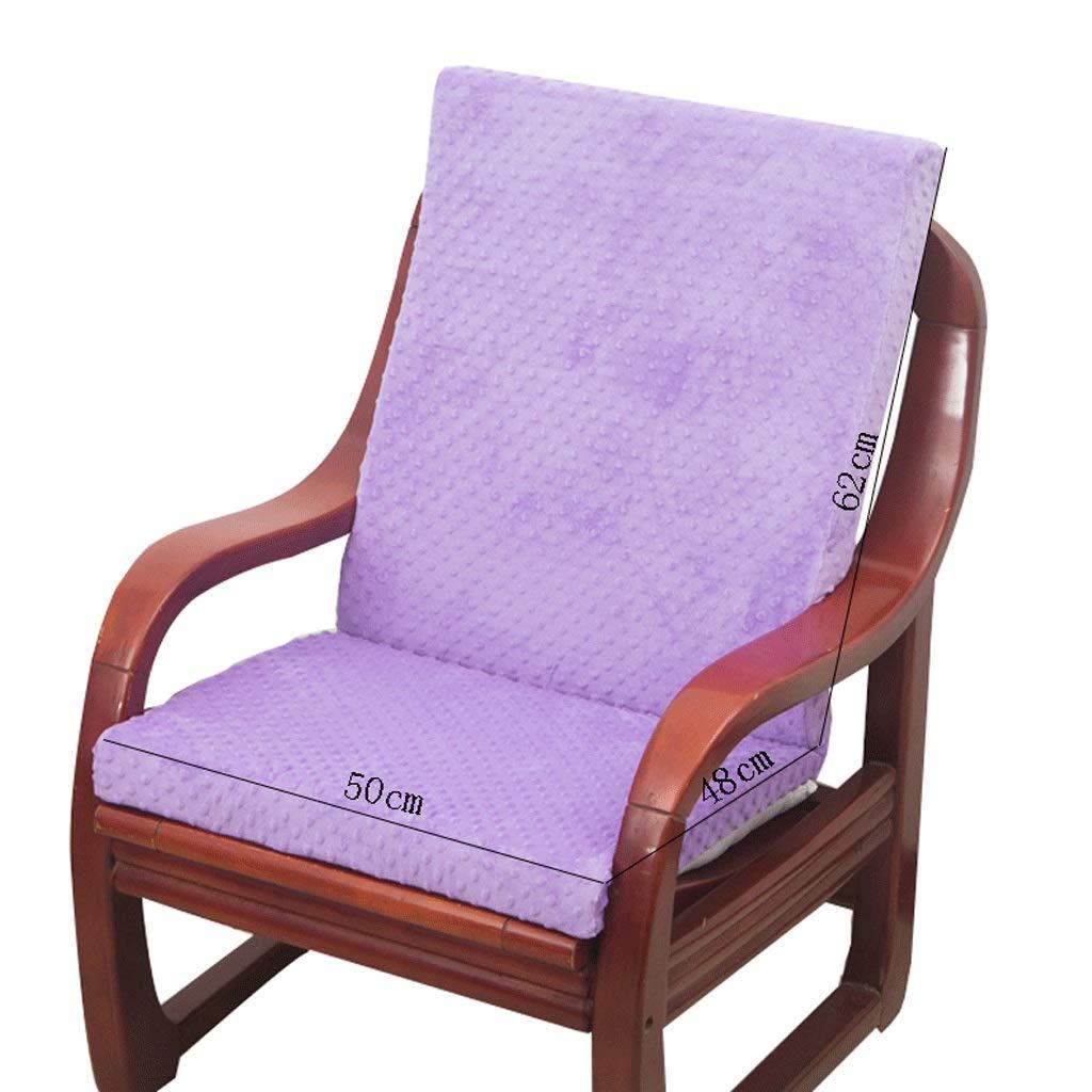HY Cojín Sofá de Antideslizante Integrado extraíble y Lavable Antideslizante Cojín Oficina de Sofá la casa Esponja de la Esponja (Color : Morado, Tamaño : L50CMXH62CM) 912395