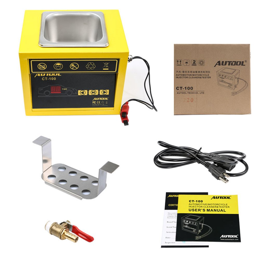 AUTOOL CT100 CT-100 Petrol Injector Ultrasonic Fuel Injector Cleaner Machine for Car Motorcycle 110V/220V by AUTOOL (Image #6)