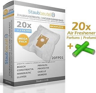 MEGA SET - 20 PROFUMINI + 20 SACCHETTI PER ASPIRAPOLVERE Bosch BSG82212/14 Ergomaxx Professional 2200 W